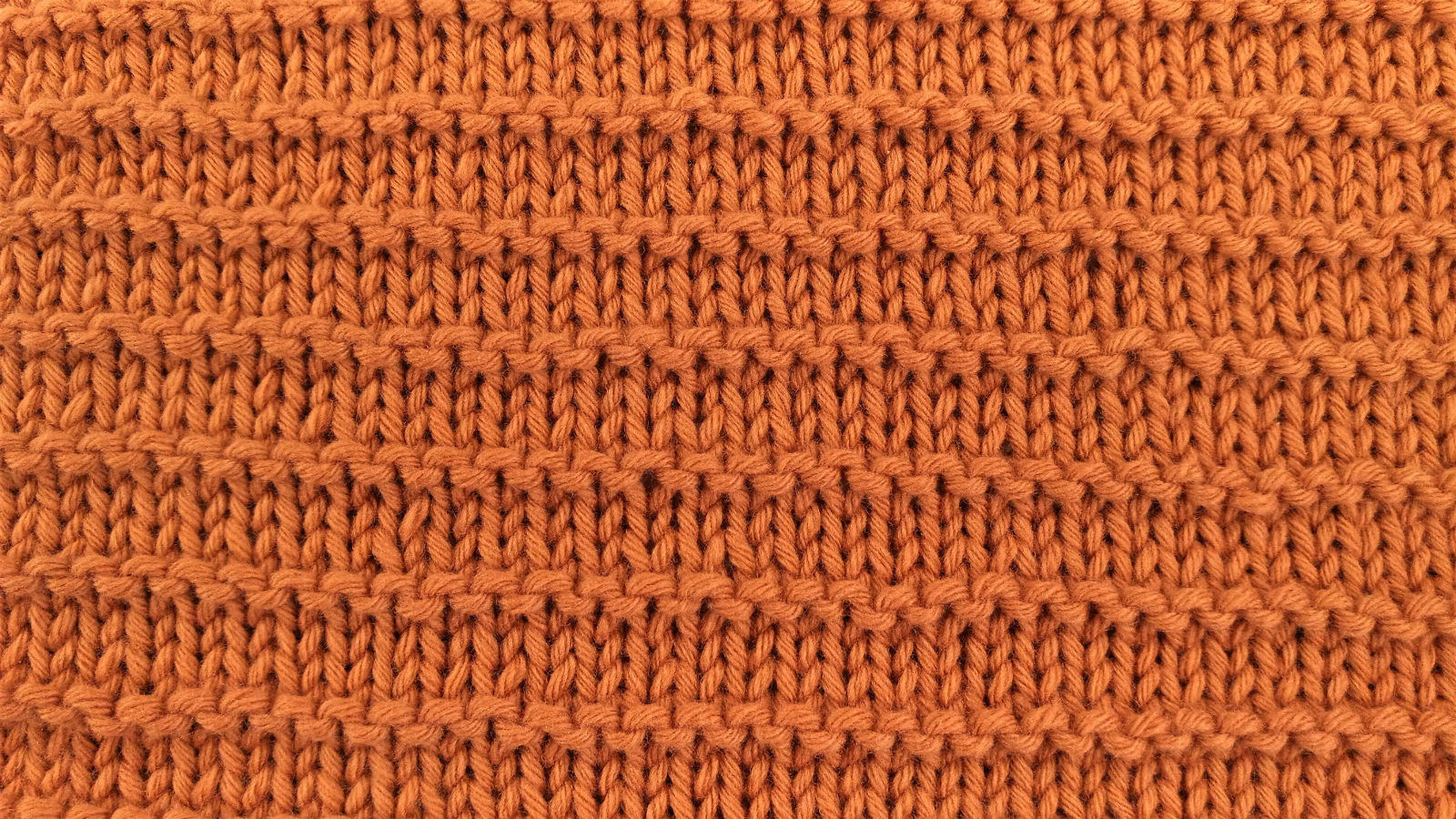 stockinette with ridges right side